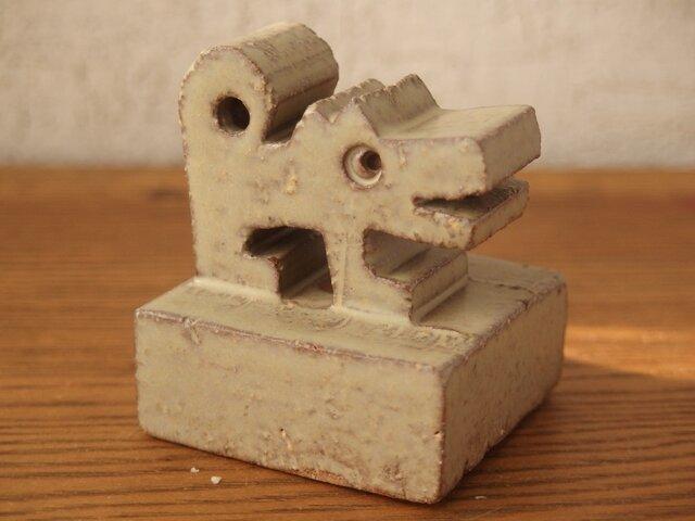 干支 戌 犬 オブジェ うぐいす色の画像1枚目