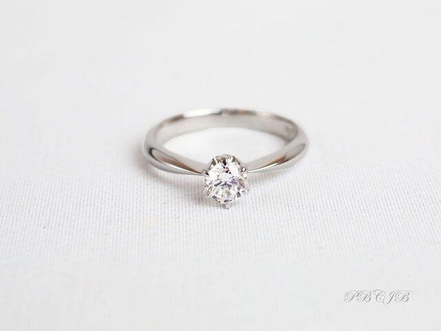 ダイヤモンド0.2ctセンタールースソリティアプラチナ【A002PT-D】の画像1枚目