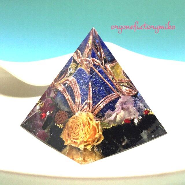 オルゴナイト 自己成長 ラピス オニキス ピラミッドの画像1枚目