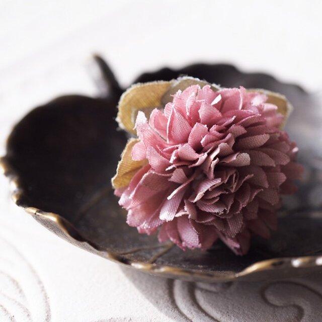 布染花*野の花アカツメクサ*リングの画像1枚目