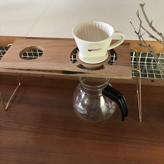 コーヒー ドリップスタンド Coffee ハンドドリップ用2ポイント 珈琲 おしゃれ ギフト 贈り物 his-0169の画像1枚目