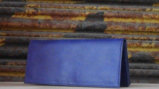 本革ロングウォレット(Blue)の画像1枚目