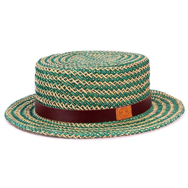 貴重なデッドストックを使用したカンカン帽M グリーン(18SSS-020)の画像1枚目
