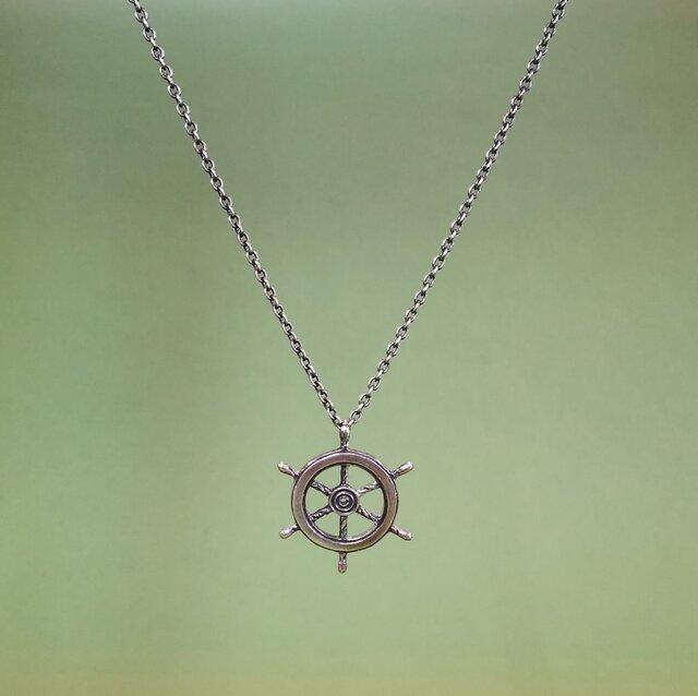 ネックレス「舵輪」の画像1枚目