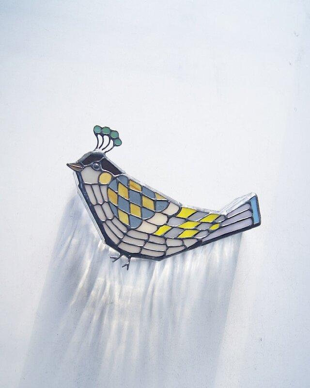 模様の鳥 壁掛けランプの画像1枚目
