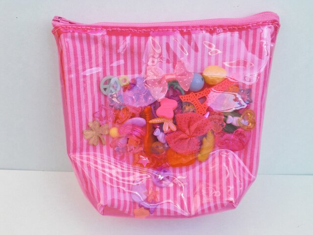 A様ご注文品 ビニールポーチ ピンクの画像1枚目
