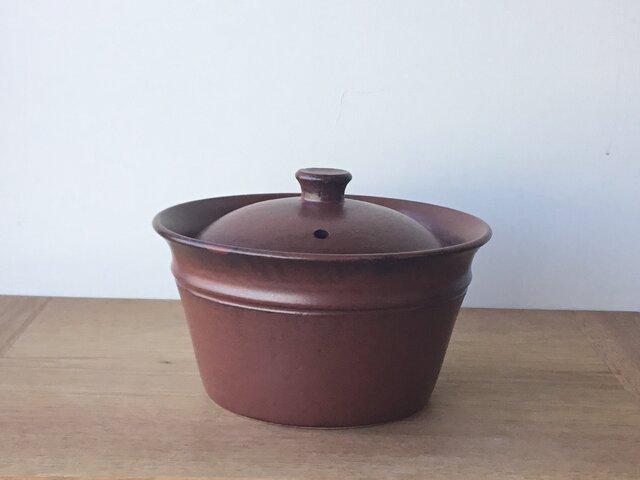 キャセロール小 鉄茶の画像1枚目