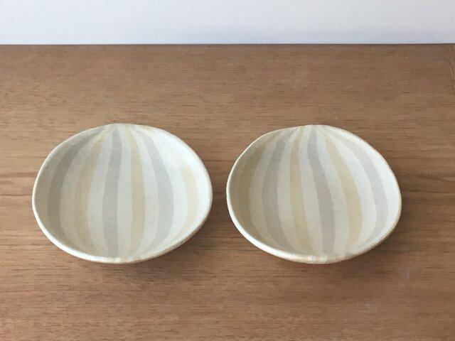 練込3色 楕円皿 の画像1枚目