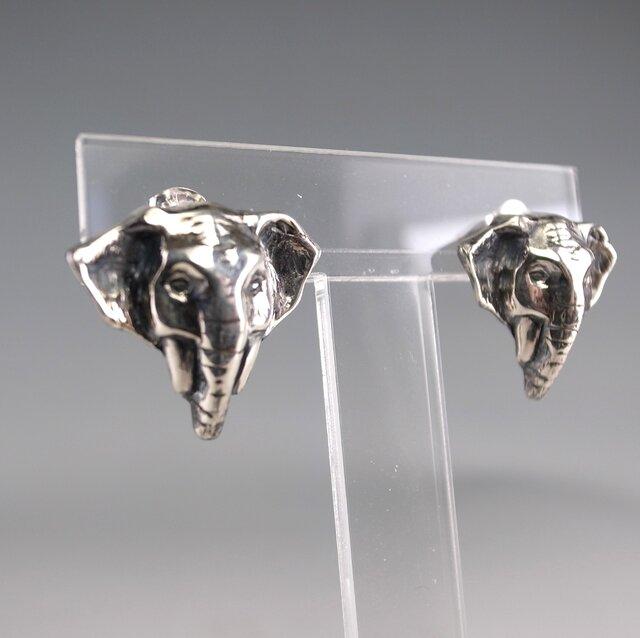 象のピアス スターリングシルバー(SV925)の画像1枚目