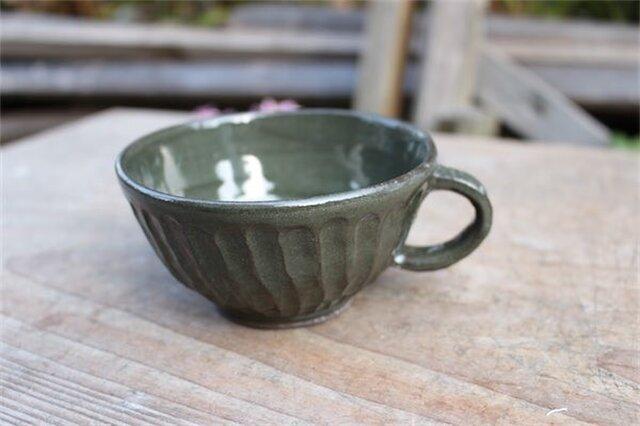 グリーンの器 カップ[18Fev-22]《釉薬》の画像1枚目