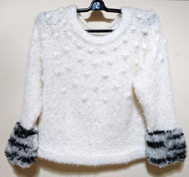 丸ヨークのファーセーターの画像1枚目