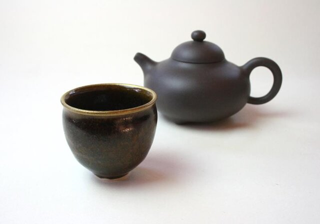 窯変天目の小さい茶器 NO.3 /陶芸 /茶器 /茶碗 / 窯変天目 / ceramic /pottery/tyawanの画像1枚目