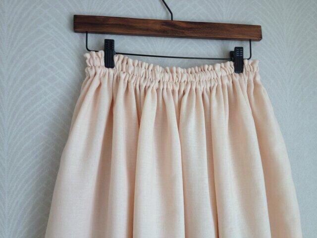 Wガーゼ(サーモンピンク)・ロングスカートの画像1枚目