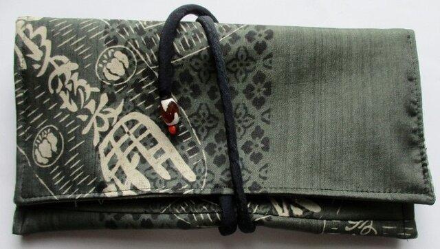 送料無料 正絹の長襦袢で作った和風財布・ポーチ 3299の画像1枚目