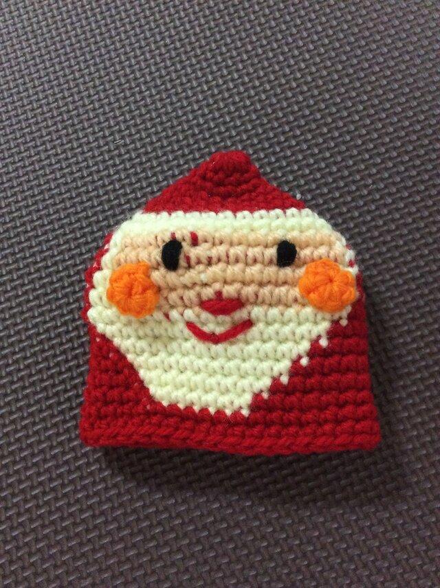 【受注製作】サンタさんのアクリルたわしの画像1枚目