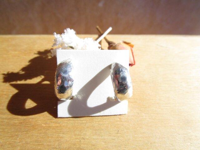 silver フープイヤリング 槌目の画像1枚目