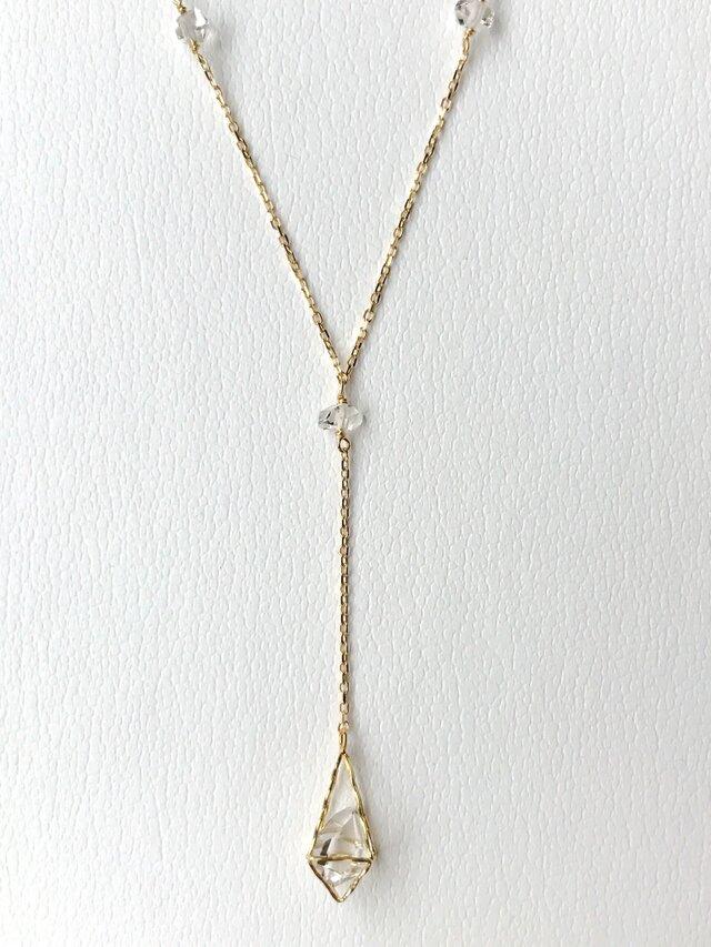 K18 ハーキマーダイヤモンド Petra ネックレスの画像1枚目