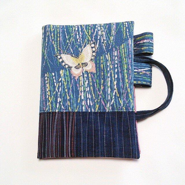 「和暦日々是好日」手帳のためのカバーバッグ、右一蝶(B6ツバメノートもOK)の画像1枚目