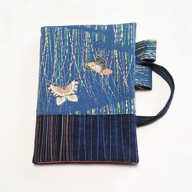 「和暦日々是好日」手帳のためのカバーバッグ、二蝶(B6ツバメノートもOK)の画像1枚目