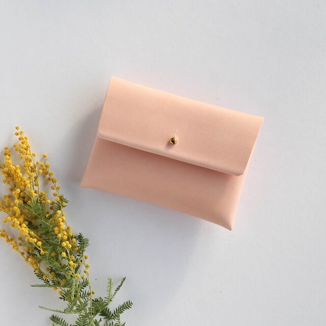 suare card case #pale pink/ スアレカードケース・名刺入れ #ペールピンクの画像1枚目