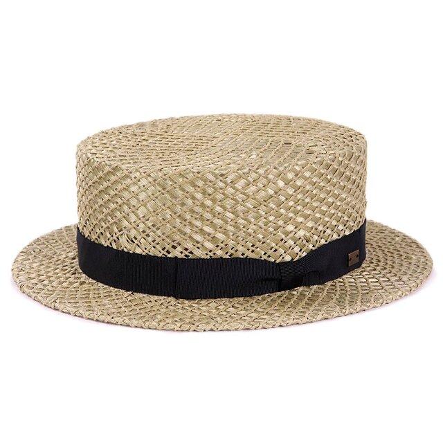 ナントク草を使用したレトロなカンカン帽M オリーブ(18SSN-012)の画像1枚目
