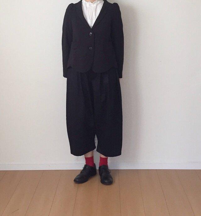 【受注製作】 バルーンパンツ ブラックの画像1枚目