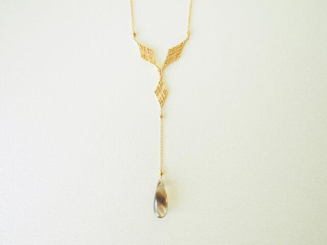 編む phantom quartz ネックレスの画像1枚目