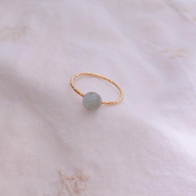 アクアマリンの指輪(金)の画像1枚目