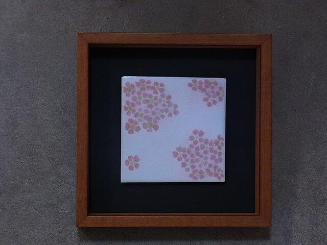 桜(花冠)4 (陶板)の画像1枚目