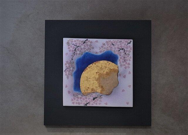 夜桜 4 (陶板)の画像1枚目