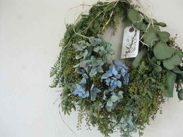 雫wreath-蕾のミモザの画像1枚目