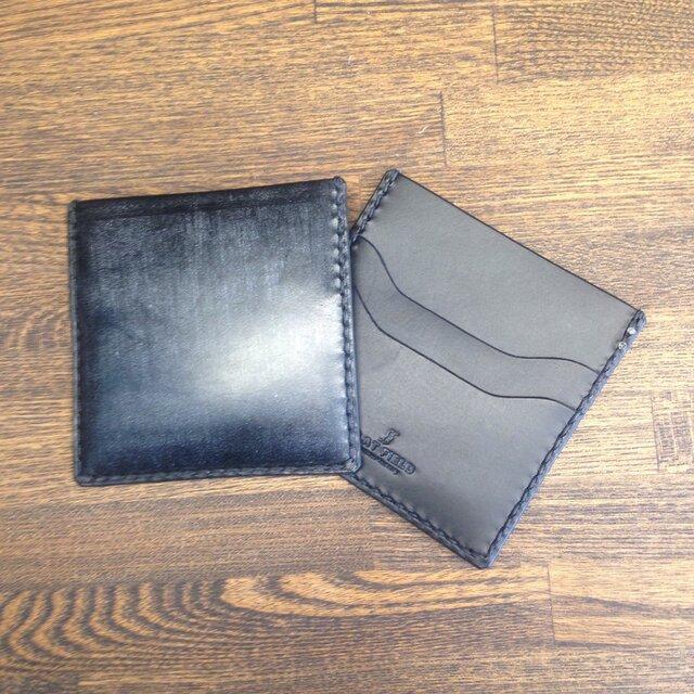 ブライドルスマート札入れ 黒×黒の画像1枚目