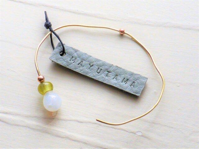 N様ご予約品(Gemini) ガラスと真鍮のシンプルブレスレット「sold」の画像1枚目