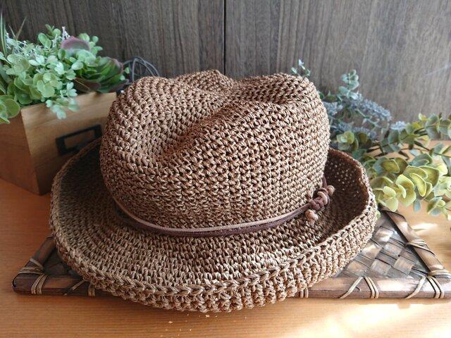 【受注制作】ほんのり中折れ《SASAWASHI》帽子の画像1枚目