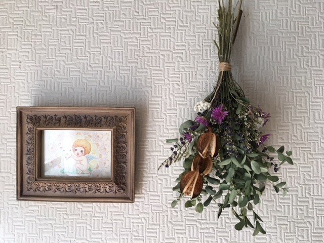 Antique Lavender Swagの画像1枚目