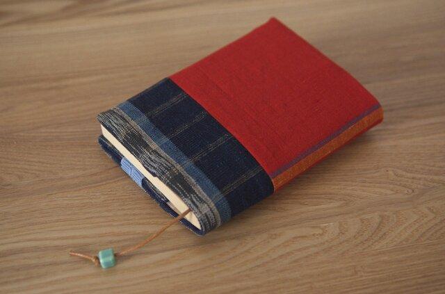 ブックカバー(しっかりタイプ) 赤&チェックの画像1枚目