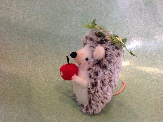 再販 ハリネズミ  りんごの画像1枚目