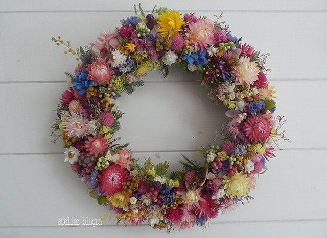 atelier blugra八ヶ岳〜春色小花のWreath001の画像1枚目