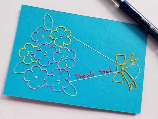 花束のThank Youカードの画像1枚目