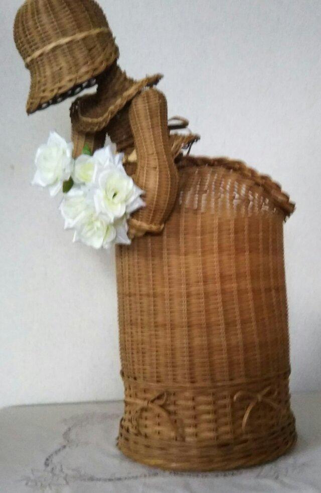 茶染の籐人形(送料無料)の画像1枚目