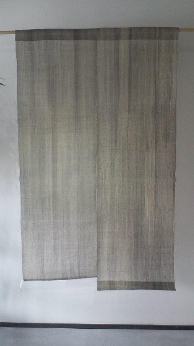 墨染め麻生平暖簾 2巾の画像1枚目
