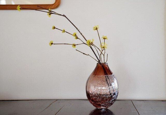 銀箔モールド花瓶~tea~の画像1枚目
