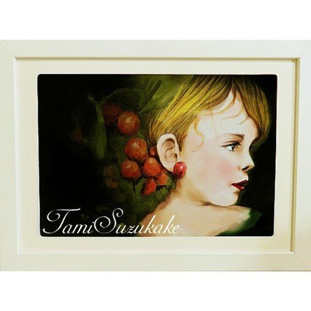 額付き絵「美しい子供」の画像1枚目