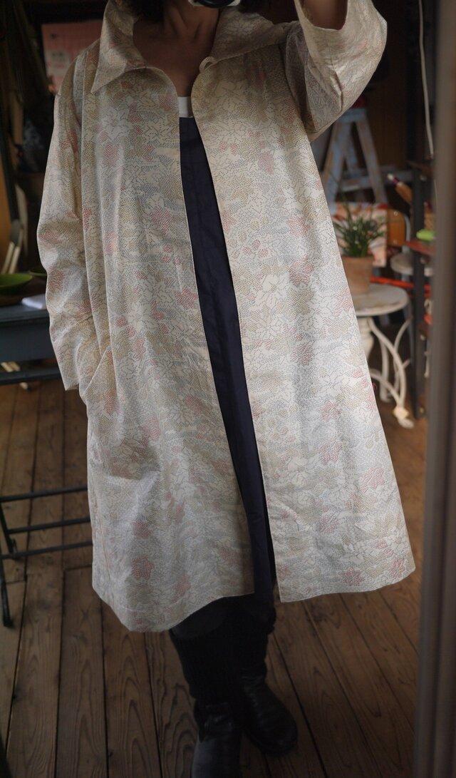 塩沢紬反物から正絹100コートの画像1枚目