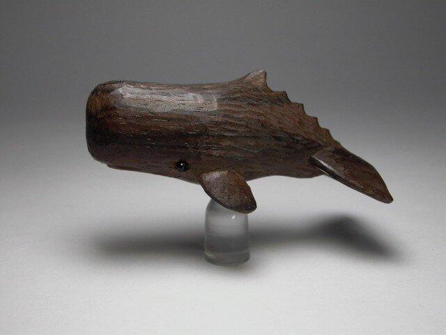 根付 黒檀マッコウクジラ 大の画像1枚目