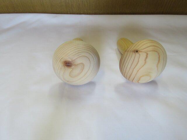ダーニングマッシュルーム ヒノキ製 再販の画像1枚目