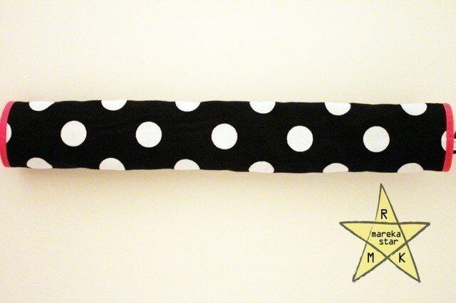 【売約済R様】№214 ベビーカーフロントガードカバー黒×白水玉の画像1枚目