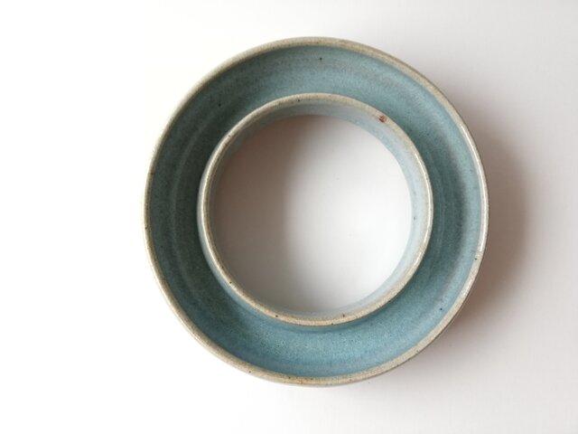 松灰釉ドーナツ型花器の画像1枚目