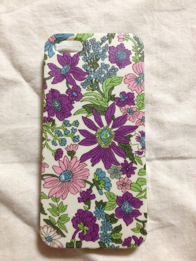 【再販】大人可愛いリバティiPhone5ケースの画像1枚目