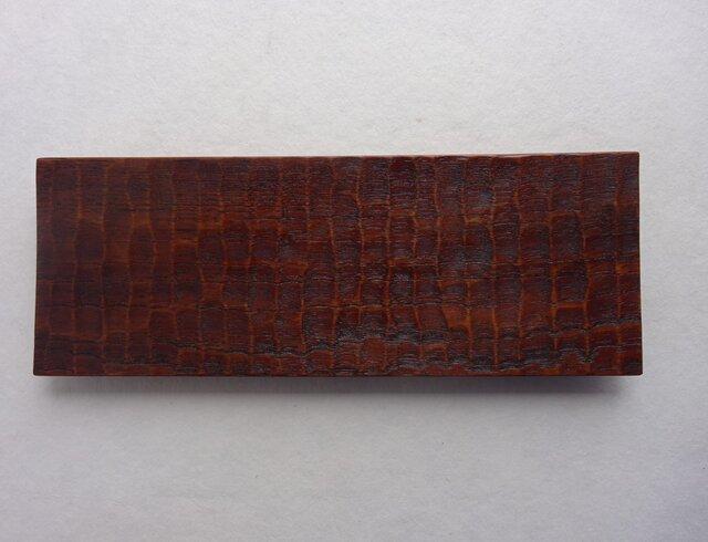 チークの長角皿(8寸)の画像1枚目